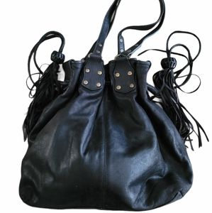 SABINA New York drawstring satchel leather bag